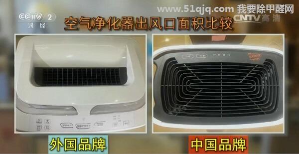 空气净化器出风口对比