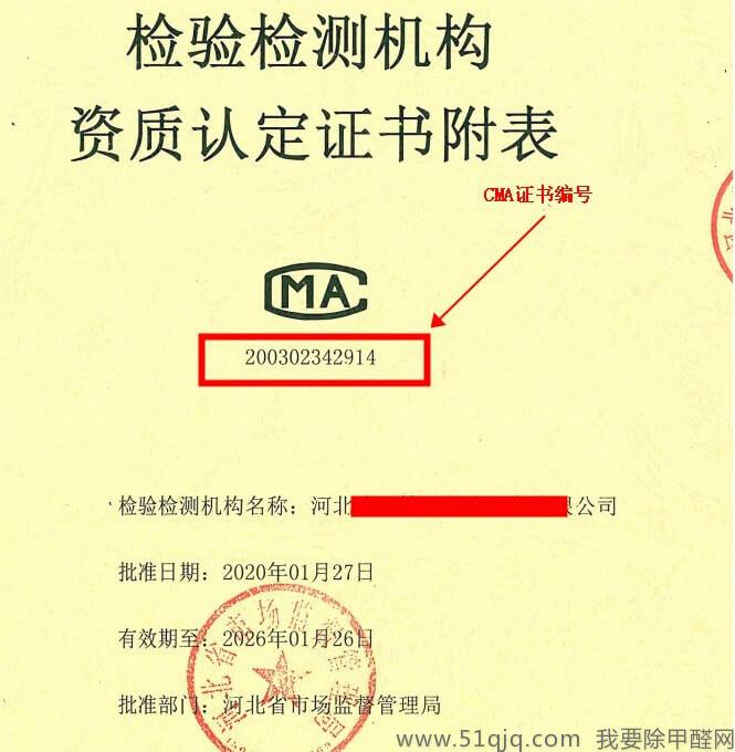 CMA资质证书编号