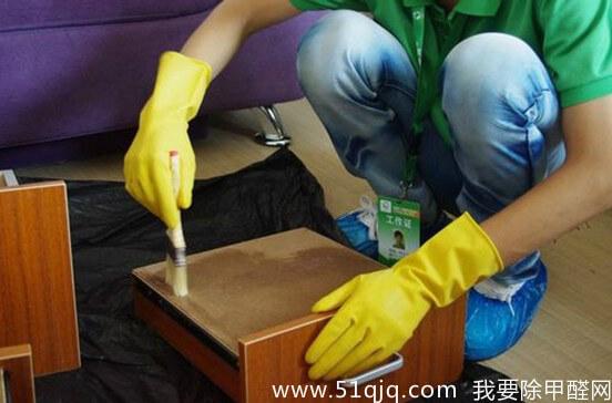 抽屉涂刷甲醛清除剂封闭剂展示