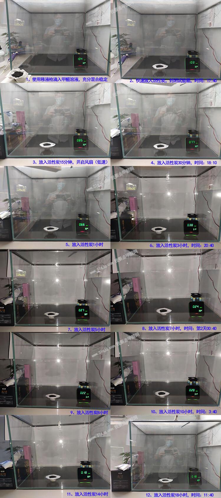 绿之源活性炭除甲醛试验组图1