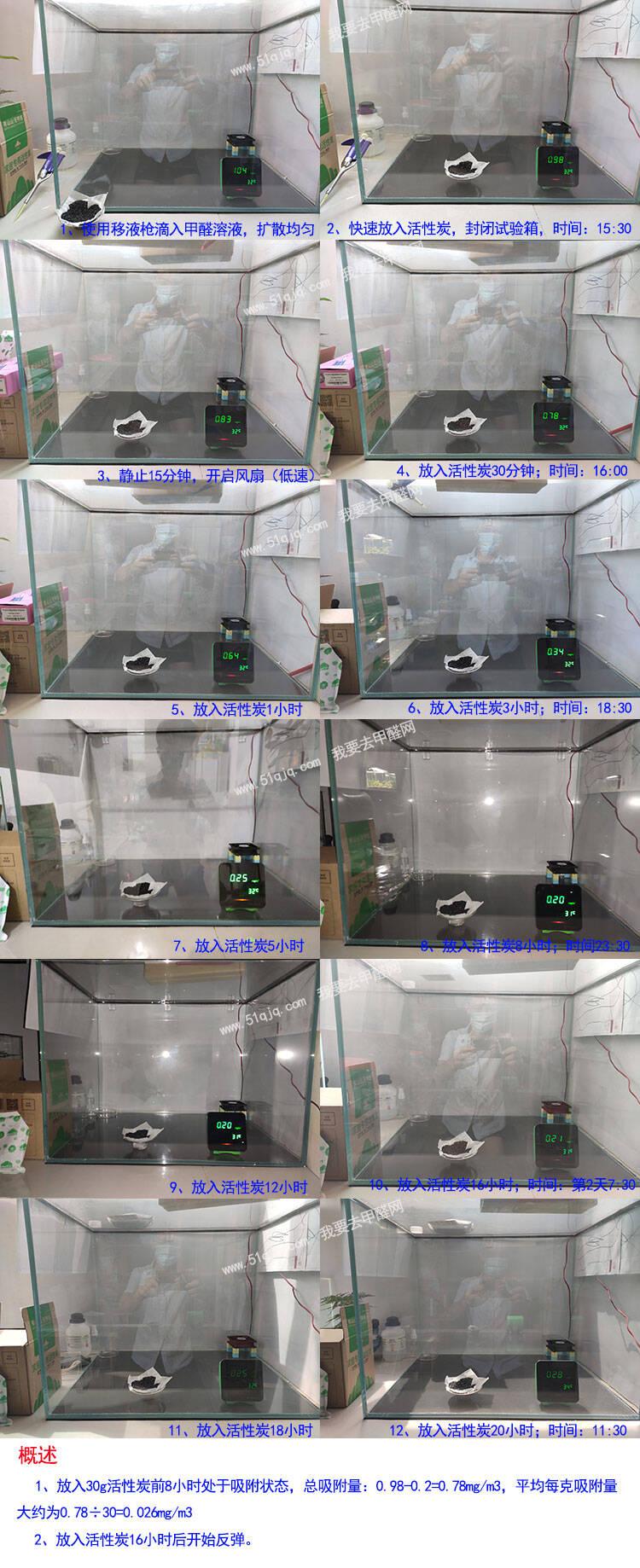 山山活性炭除甲醛试验组图