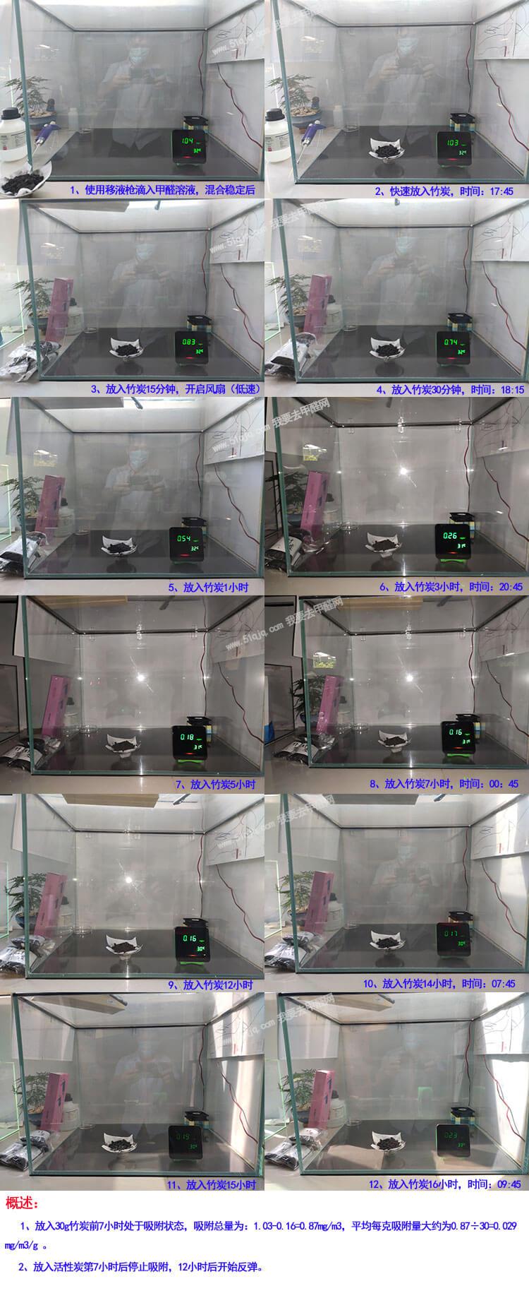 第二组竹炭除甲醛试验组图