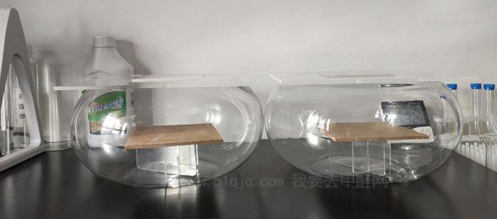 格瑞卫康甲醛清除剂FS-VⅢ型除甲醛试验对比试验舱
