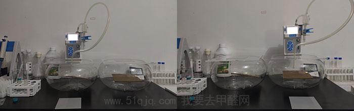 格瑞卫康甲醛清除剂FS-VⅢ型除甲醛试验大气采样过程