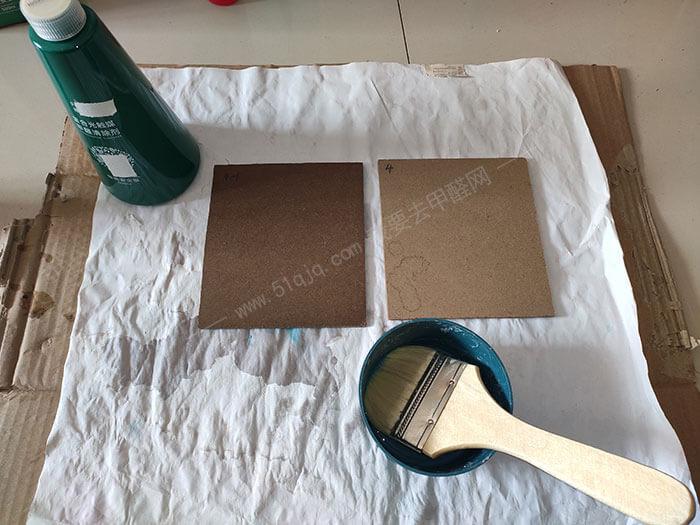 博华康生复合光触媒甲醛清除剂对比试板制作