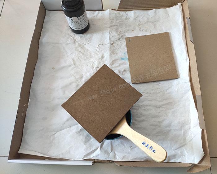 沪正纳米银基甲醛消除液对比试验——试板制备