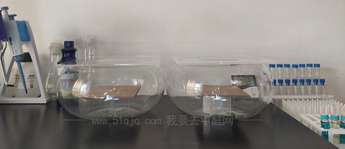 明天星纳米光触媒伴侣除甲醛试验——对比实验舱